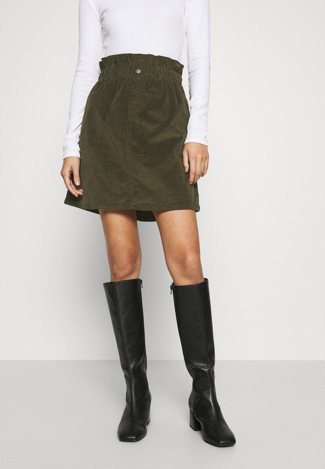 JUDO PAPERBAG SKIRT  - A-line skirt - kalamata