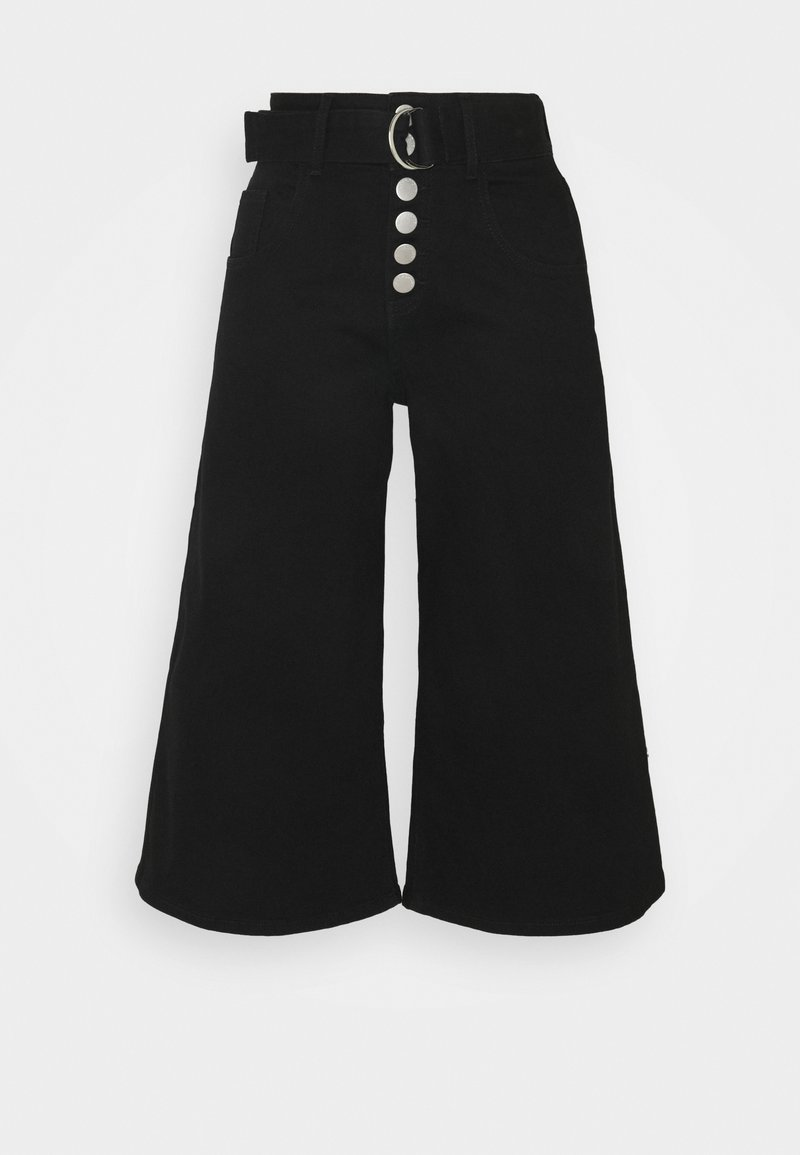 Glamorous Petite - CROPPED WITH BELT - Relaxed fit jeans - black wash