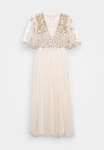 PATCHWORK BODICE BALLERINA DRESS