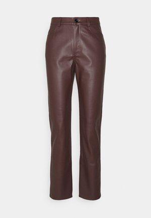 HIGH WAIST PANTS - Trousers - brown