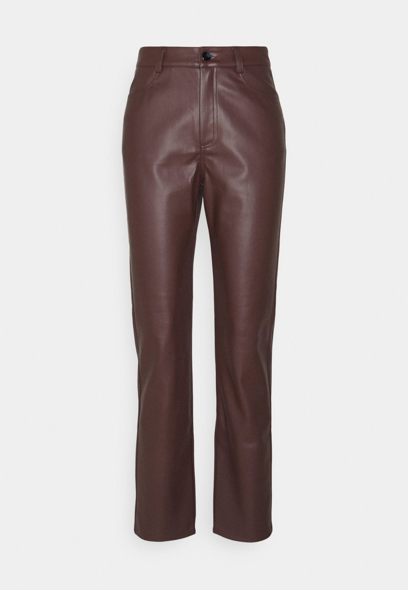 Nly by Nelly - HIGH WAIST PANTS - Broek - brown