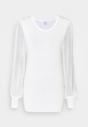 DOBBY SLEEVE JUMPER - Jumper - cream