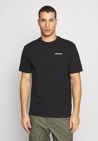 Patagonia - LOGO RESPONSIBILI TEE - Print T-shirt - black - 2