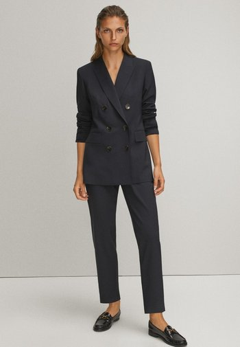 Trousers - blue/black denim