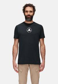 Mammut - MASSONE MEN - T-shirt z nadrukiem - black prt - 0