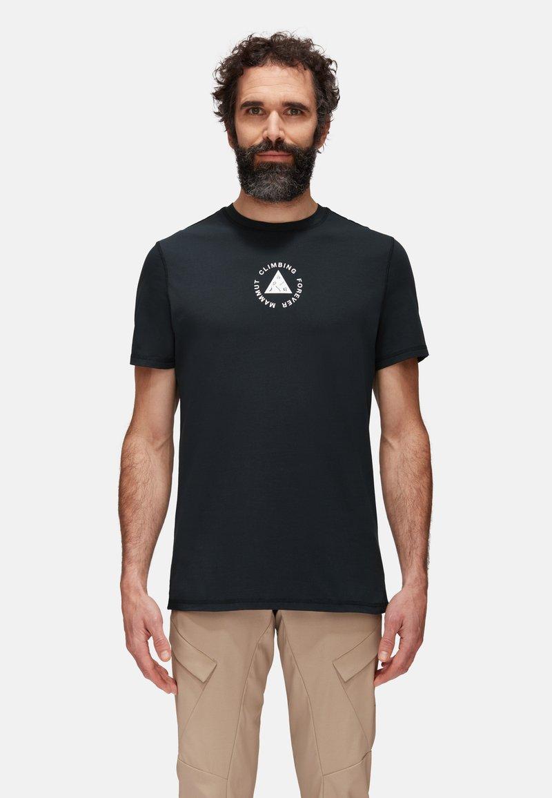 Mammut - MASSONE MEN - T-shirt z nadrukiem - black prt