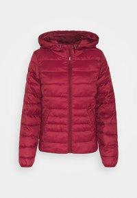 Vero Moda - VMMIKKOLA SHORT HOODY JACKET - Light jacket - cabernet - 5