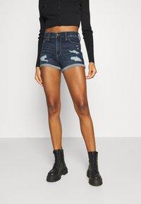 Hollister Co. - Denim shorts - dark dest - 0