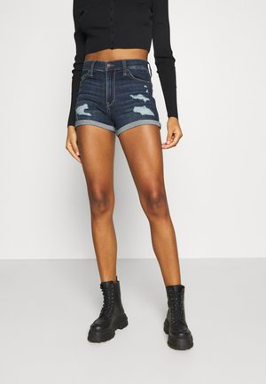Denim shorts - dark dest