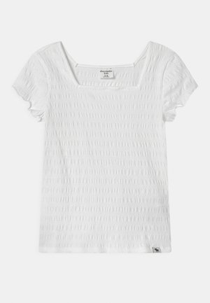 SMOCKED - T-shirt print - white