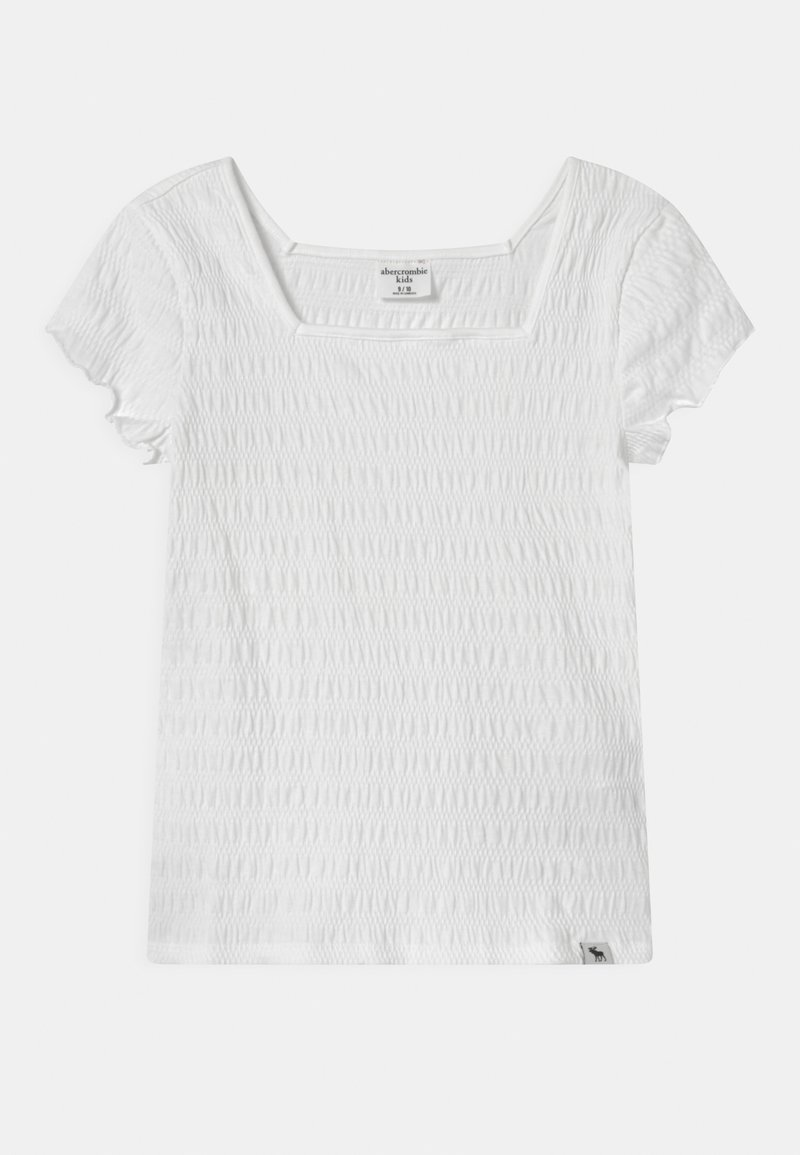 Abercrombie & Fitch - SMOCKED - Print T-shirt - white