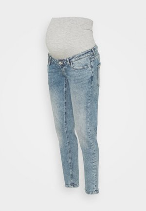 OLMENEDA MOM MATERNITY - Slim fit jeans - light blue denim