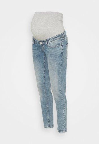 OLMENEDA MOM MATERNITY - Slim fit jeans - light blue denim