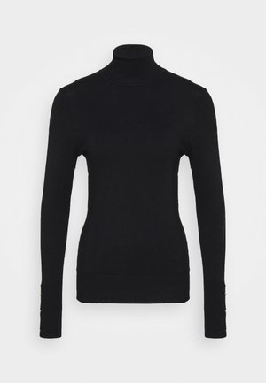 BASIC- BUTTON DETAIL JUMPER - Jumper - black