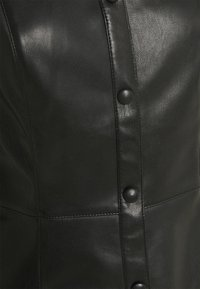 NA-KD - PUFF SLEEVE DRESS - Blousejurk - black - 7