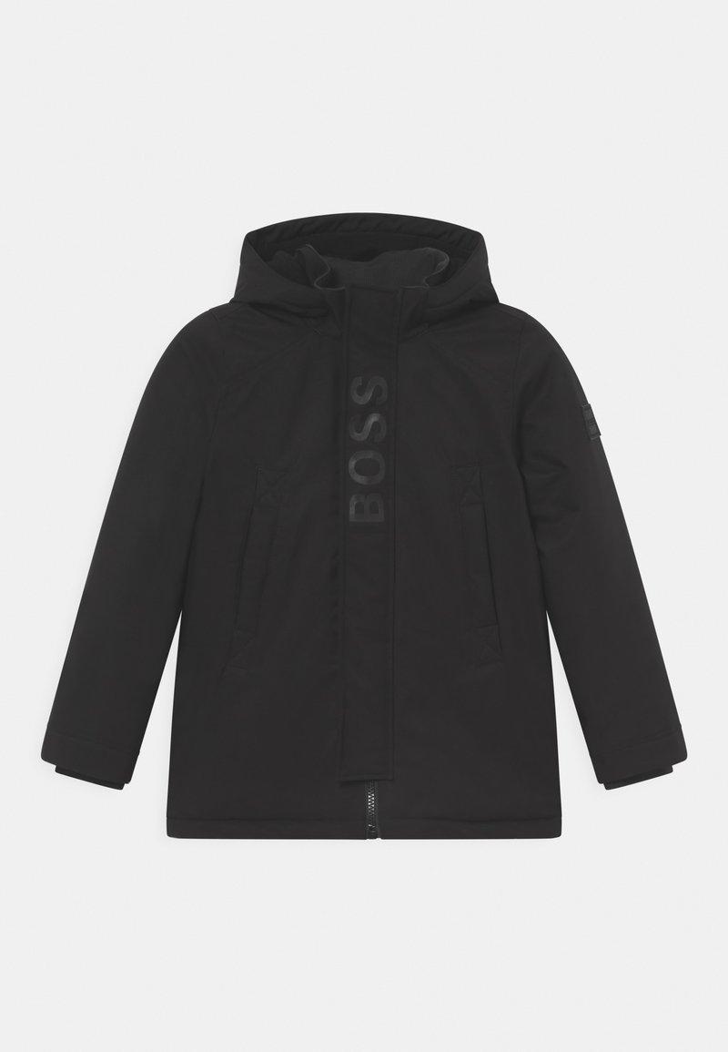 BOSS Kidswear - HOODED - Winter coat - black