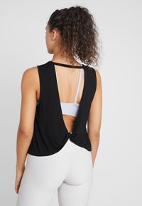 Cotton On Body - OPEN TWIST BACK TANK - Top - black - 2