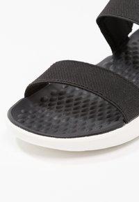 Crocs - LITERIDE - Sandals - black/white - 2