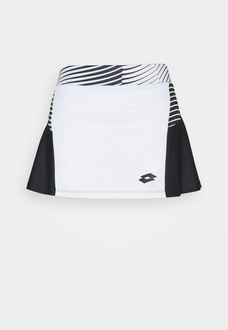 Lotto - TOP TEN II SKIRT - Sportovní sukně - bright white/black