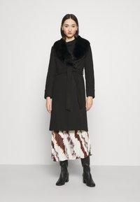 Miss Selfridge - BELT COAT - Classic coat - black - 0