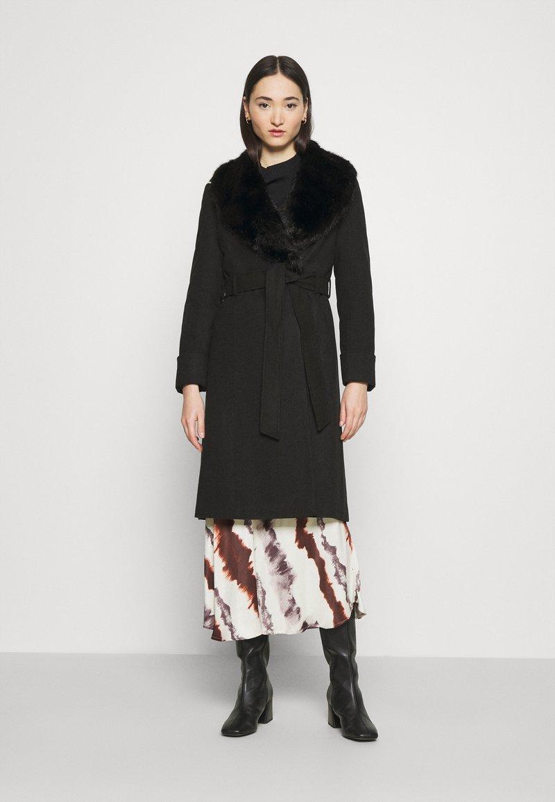 Miss Selfridge - BELT COAT - Classic coat - black