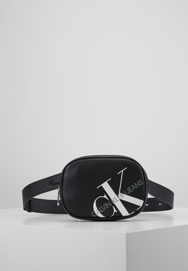 ROUNDED WAISTBAG - Riñonera - black