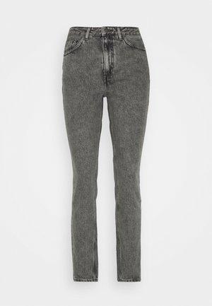 TIZANIE - Straight leg jeans - gris poivre et sel