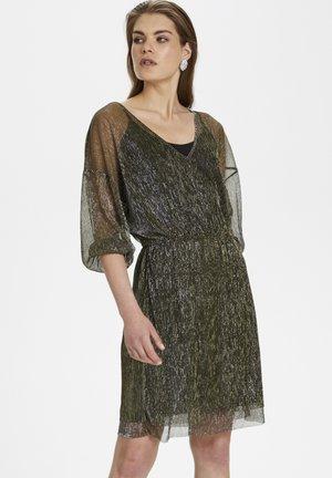 Korte jurk - antique gold