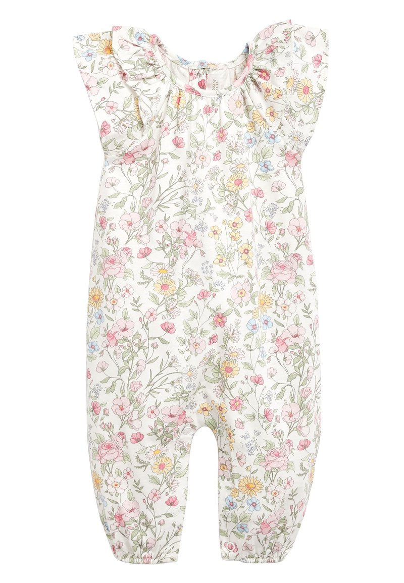 Next - ECRU/PINK FLORAL PRINT ROMPER (0MTHS-2YRS) - Overall / Jumpsuit /Buksedragter - off-white