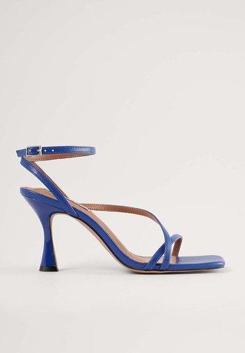 HOURGLASS - High heeled sandals - blue