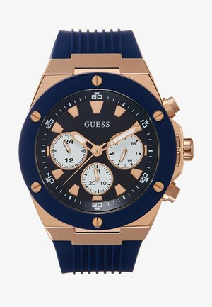 MENS SPORT MULTIFUNCTION - Reloj - blue/rose gold-coloured