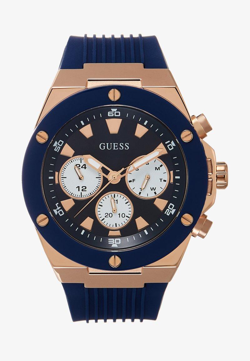 Guess - MENS SPORT MULTIFUNCTION - Klocka - blue/rose gold-coloured