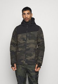 Brunotti - BARRY MENS SOFTSHELLJACKET - Snowboardová bunda - pine grey - 0