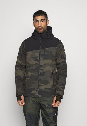 BARRY MENS SOFTSHELLJACKET - Snowboardová bunda - pine grey