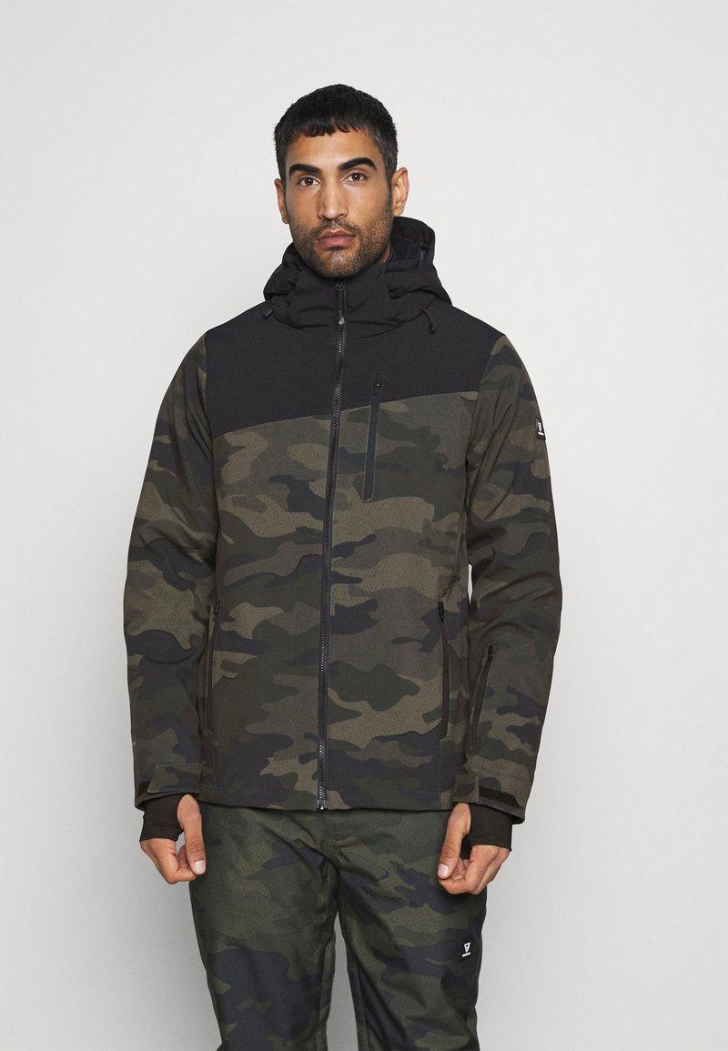 Brunotti - BARRY MENS SOFTSHELLJACKET - Snowboardová bunda - pine grey