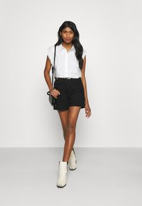 Monki - Button-down blouse - white solid - 1