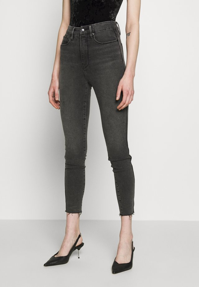 CURVE RAW EDGE - Jeans Skinny - black