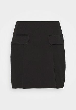 COORD TAILORED POCKET DETAIL - Minirok - black