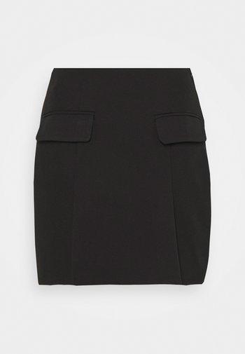 COORD TAILORED POCKET DETAIL - Minijupe - black