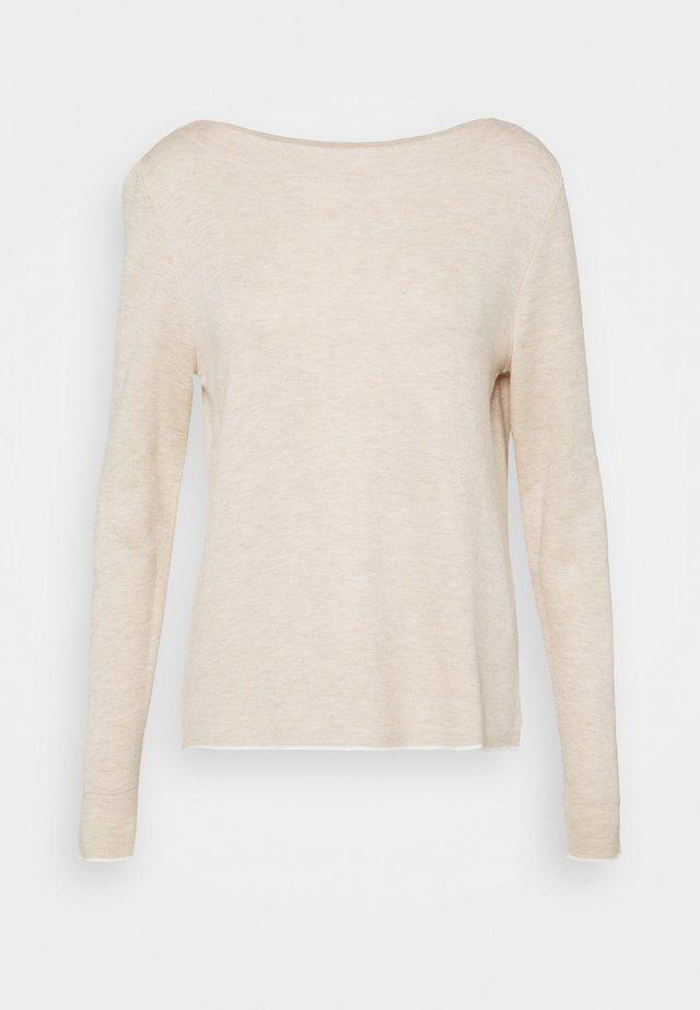 LANGARM - Sweter - beige melange