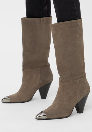 Cowboy/Biker boots - stone 1