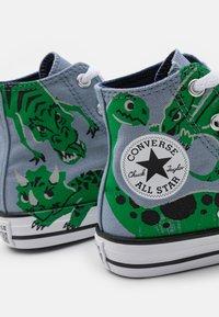 Converse - CHUCK TAYLOR ALL STAR DINO DAZE UNISEX - Sneakers alte - blue slate/midnight navy/green - 5