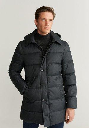 STREET - Winter coat - dark gray mottled