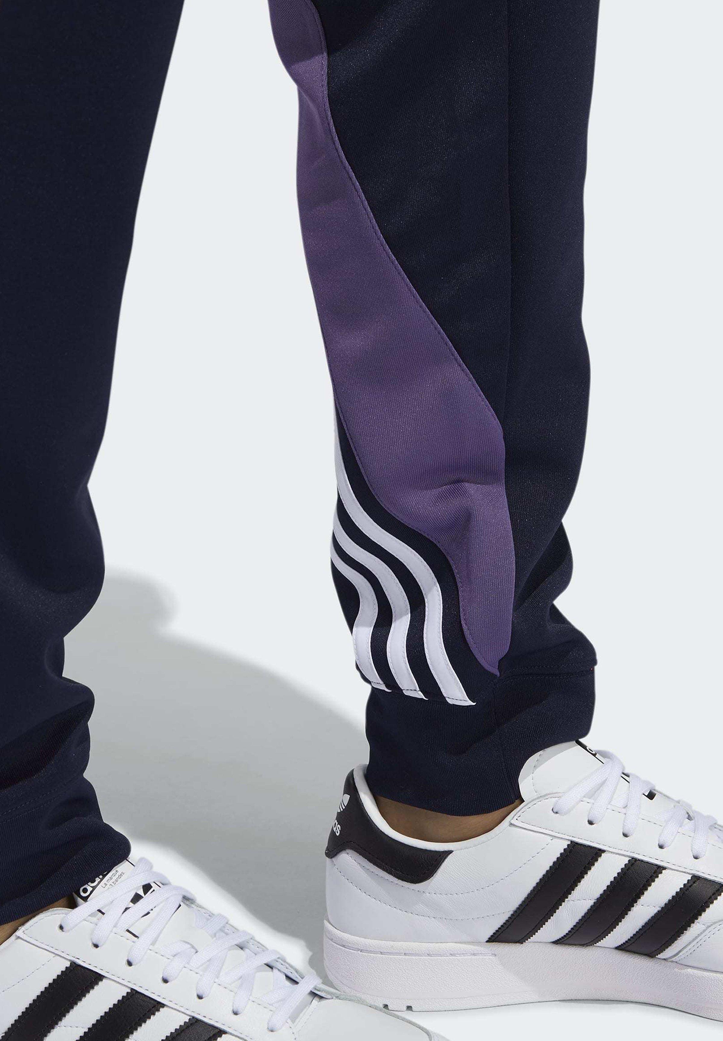 adidas Originals STRIPES WRAP TRACKSUIT BOTTOMS - Pantalon de survêtement - blue