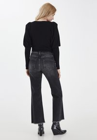 PULZ - PZLIVA  - Flared Jeans - black denim - 2