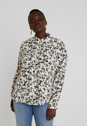 PRINT - Button-down blouse - black