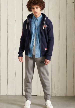 SUPERDRY TRACK & FIELD GRAPHIC - Zip-up hoodie - nautical navy