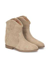 Kazar - SLOAN - Cowboy/biker ankle boot - beige - 1