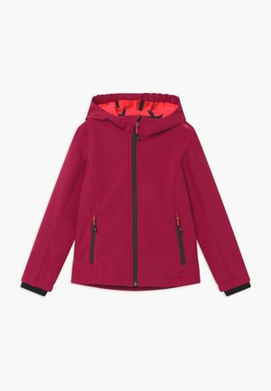 GIRL FIX HOOD - Soft shell jacket - magenta/red fluo