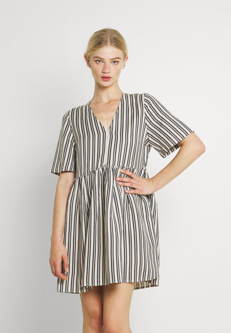 EDITED - MABEL DRESS - Day dress - beige/black
